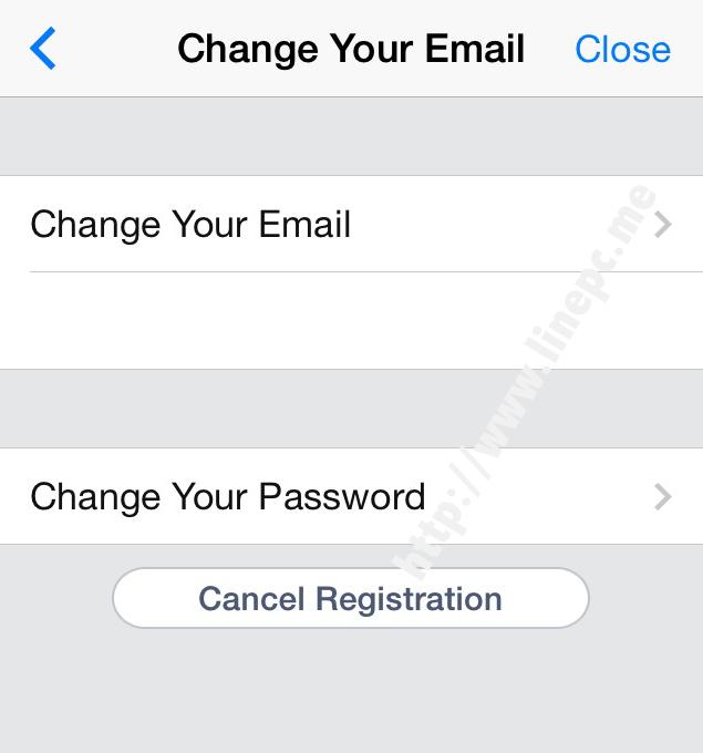 การเปลี่ยนอีเมลล์และรหัสผ่าน LINE PC